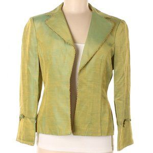 Nanette Lepore Lemon Lime Silk Blazer Jacket